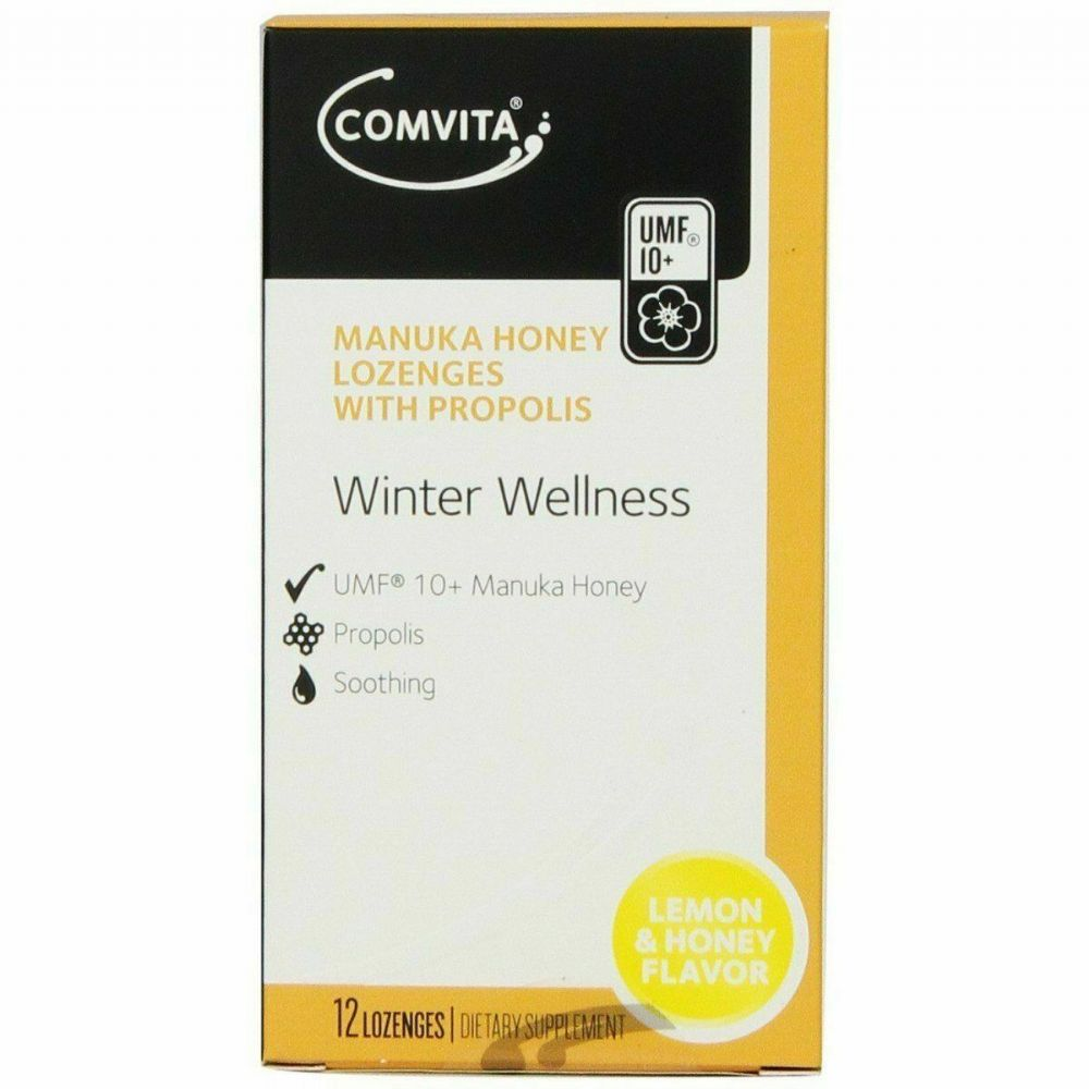 Comvita Propolis Lozenges Lemon & Honey (12 Lozenges)
